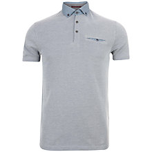 Buy Ted Baker Hoxtan Polo Shirt, Teal Online at johnlewis.com