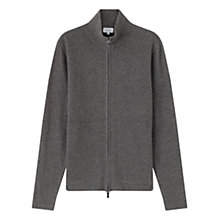 Buy Jigsaw Lambswool Milano Knit Zip Jacket, Grey Online at johnlewis.com