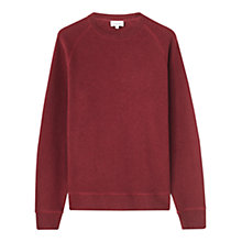 Buy Jigsaw Wool Cotton Crew Neck Jumper Online at johnlewis.com