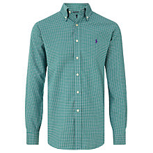 Buy Polo Golf by Ralph Lauren Long Sleeve Sports Shirt, Evergreen/Crimson Online at johnlewis.com