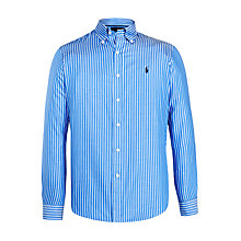 Buy Polo Golf by Ralph Lauren Button Down Sports Shirt, Soft Blue/White Online at johnlewis.com