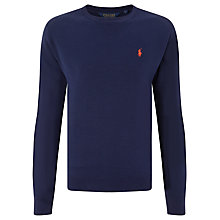 Buy Polo Golf by Ralph Lauren Crew Neck Jumper, French Navy Online at johnlewis.com