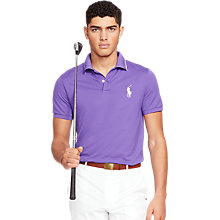 Buy Polo Golf by Ralph Lauren Short Sleeve Polo Shirt, Tie Purple Online at johnlewis.com