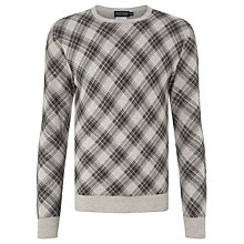 Buy Polo Golf by Ralph Lauren Plaid Sweater, Museum Grey Online at johnlewis.com