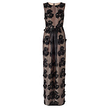Buy Bruce by Bruce Oldfield Full Length Appliqué Dress, Black/Nude Online at johnlewis.com