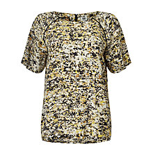 Buy Kin by John Lewis Shattered Floral Top, Yellow Online at johnlewis.com