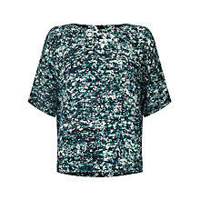 Buy Kin by John Lewis Shattered Floral Top, Blue Online at johnlewis.com