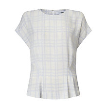 Buy John Lewis Karina Houndstooth Peplum Top, Multi Online at johnlewis.com