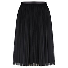Buy Bruce by Bruce Oldfield Tulle Pleat Skirt, Black Online at johnlewis.com