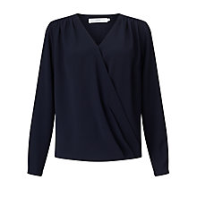 Buy John Lewis Long Sleeve Mylene Blouse, Navy Online at johnlewis.com