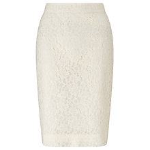 Buy John Lewis Cila Lace Pencil Skirt, Ivory Online at johnlewis.com