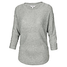 Buy Fat Face Harpenden Textured Dip Hem Jumper, Grey Marl Online at johnlewis.com