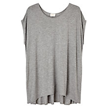 Buy East Pleat Back Jersey Top,  Smoke Online at johnlewis.com