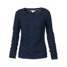 Buy Fat Face Covington Cable Jumper, Navy Online at johnlewis.com