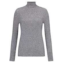 Buy East Jersey Polo Neck Top, Slate Online at johnlewis.com