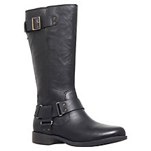 Buy UGG Damien Ruched Buckle Detail Ankle Boots, Black Leather Online at johnlewis.com