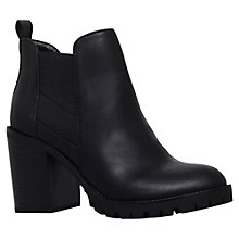 Buy Miss KG Silent Block Heel Ankle Boots, Black Online at johnlewis.com