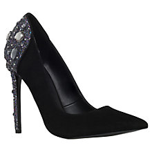 Buy KG by Kurt Geiger Hijack Back Embellished Courts Online at johnlewis.com