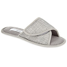 Buy John Lewis Crossover Open Toe Slide Slippers, Grey Online at johnlewis.com