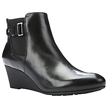 Buy Geox Venere Side Buckle Chelsea Boots, Black Leather Online at johnlewis.com