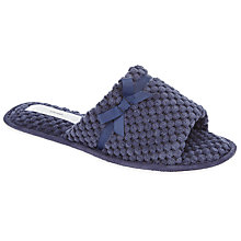 Buy John Lewis Popcorn Open Toe Mule Slippers, Navy Online at johnlewis.com