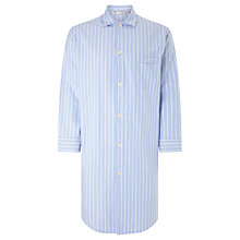 Buy Derek Rose Brushed Cotton Stripe Nightshirt, Blue Online at johnlewis.com