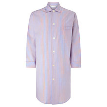 Buy Derek Rose Woven Cotton Stripe Nightshirt, Blue/Red Online at johnlewis.com
