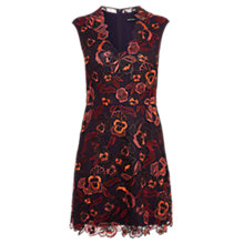 Buy Karen Millen Floral Dress, Aubergine Online at johnlewis.com