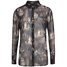 Buy Ted Baker Themba Chandelier Print Shirt, Black Online at johnlewis.com