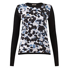 Buy Jigsaw Smudge Spot Jumper, Multi Online at johnlewis.com