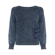 Buy Karen Millen Washed Indigo Knit, Blue Online at johnlewis.com