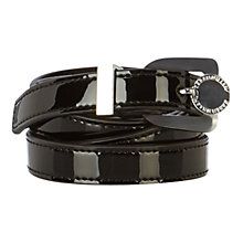 Buy Karen Millen Patent Leather Skinny Belt, Black Online at johnlewis.com