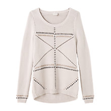 Buy East Contrast Stitch Jumper, Calico Online at johnlewis.com
