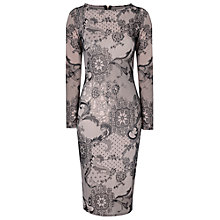 Buy True Decadence Lace Long Sleeve Midi Dress, Black Online at johnlewis.com