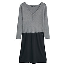 Buy Mango Two-Tone Cotton Dress, Black/Grey Online at johnlewis.com