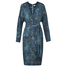 Buy Jigsaw Space Dye Belted Dress, Deep Teal Online at johnlewis.com