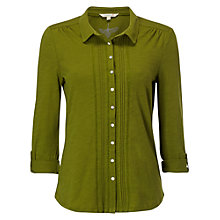 Buy White Stuff Sylvia Jersey Shirt, Tarragon Online at johnlewis.com