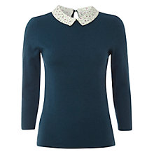 Buy White Stuff Doria Jumper, Dark Tapshoe Teal Online at johnlewis.com