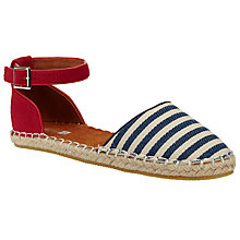 Buy John Lewis Children's Anna Canvas Espadrille Sandals, Blue/White Online at johnlewis.com