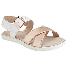 Buy John Lewis Children's Holly Cross-Over Sandals, Rose Gold Online at johnlewis.com