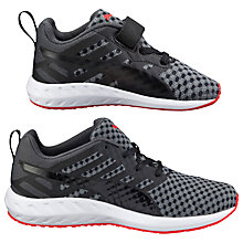 Buy Puma Flare V Children's Trainers, Black/Grey Online at johnlewis.com