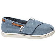 Buy TOMS Children's Chambray Biminis Shoes, Blue Online at johnlewis.com