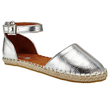 Buy John Lewis Children's Anna Espadrille Sandals, Silver Online at johnlewis.com