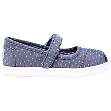 Buy TOMS Children's Mary Jane Shoes Online at johnlewis.com