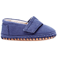 Buy TOMS Children's Canvas Crib Alpargata Shoes Online at johnlewis.com