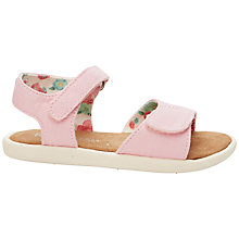 Buy TOMS Children's Canvas Tiny Sandals, Pink Online at johnlewis.com