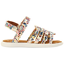 Buy TOMS Children's Huarache Paint Splatter Canvas Sandals, Multi Online at johnlewis.com