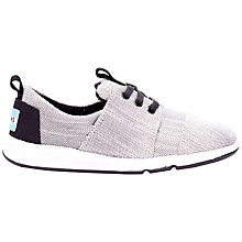 Buy TOMS Children's Del Rey Youth Trainers, Grey Online at johnlewis.com