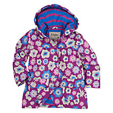 Buy Hatley Girls' Graphic Floral Print Raincoat, Purple Online at johnlewis.com