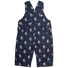 Buy Frugi Organic Baby Alex Boat Dungarees, Navy Online at johnlewis.com